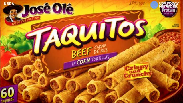 Check your freezers! José Olé frozen beef taquitos have been recalled because they may contain bits of plastic and rubber.
