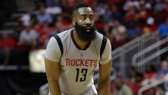 James Harden became the first player in NBA history to score and assist on 2,000 points each in a season in the Rockets' loss to the Warriors on Tuesday night.
