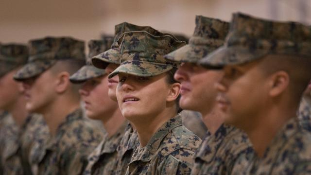 Maria Daume was born in a Siberian prison. Now, she's making history in the Marine Corps.  Video provided by Newsy