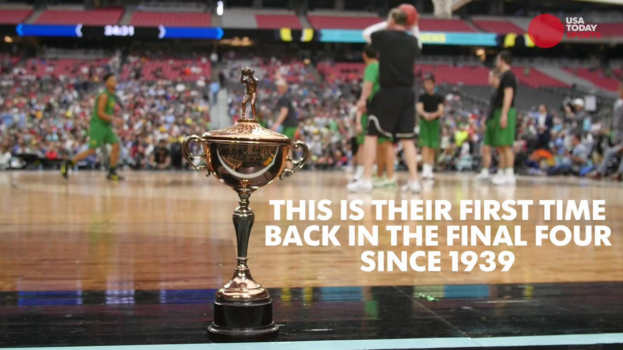 This is the Oregon Ducks' first appearance in the Final Four since 1939 --  when they won the whole thing.