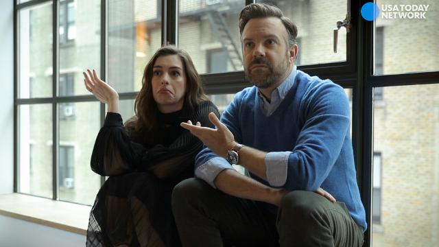 Anne Hathaway and Jason Sudeikis explain how drunkenness and a giant monster go together in their offbeat sci-fi comedy 'Colossal.'