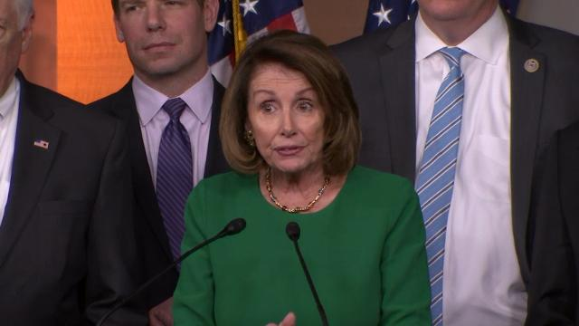"House Minority Leader Nancy Pelosi called the failure of House Republicans to bring their health care bill to a vote ""a victory for the American people."" (March 24)"