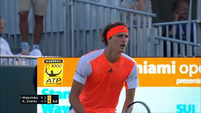 19-year-old German star defeats top-seeded Stan Wawrinka to advance to the men's quarterfinals at the Miami Open. Roger Federer, Rafael Nadal and Jack Sock also claim spots in the men's quarters in Key Biscayne.