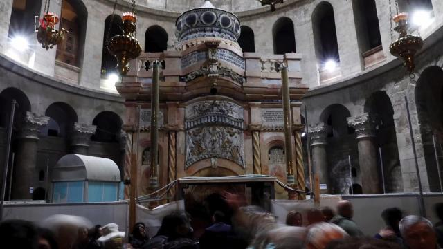The restoration of what many believe to be the burial shrine of Jesus has been restored. Josh King has the story (@abridgetoland).