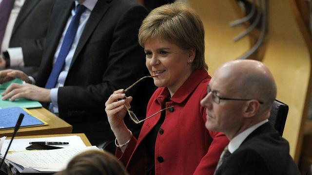Scotland's Parliament is backing First Minister Nicola Sturgeon's call for a second independence referendum before the U.K. completely leaves the EU.
