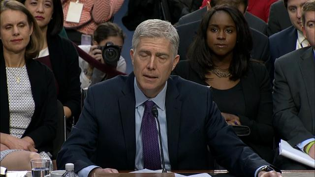Supreme Court nominee Neil Gorsuch on March 21, 2017.