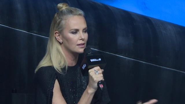 "Speaking in China alongside her co-star Jason Statham, Charlize Theron talks about playing a villain in the latest ""Fast and Furious"" movie, ""The Fate of the Furious."" (March 24)"