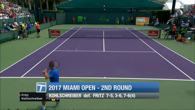 Recapping second round action at the Miami Open.