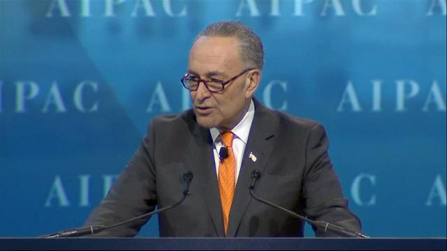 Senate and House Minority Leaders Chuck Schumer and Nancy Pelosi addressed ongoing acts of anti-Semitism in the fallout of the presidential election at the annual American Israel Public Affairs Committee conference on Tuesday. (March 28)