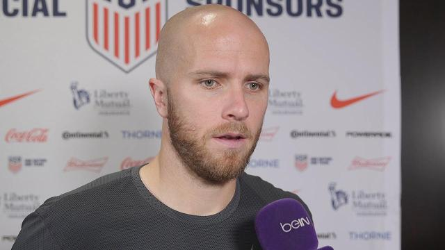 U.S. men's national team captain Michael Bradley warns against overreacting after a 6-0 World Cup qualifying win vs. Honduras, as work remains to be done on the road to Russia 2018.