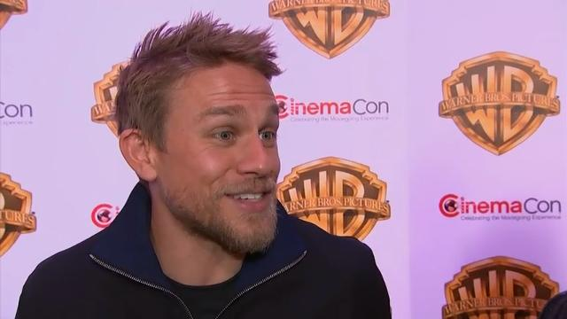 Speaking at CinemaCon in Las Vegas, actor Charlie Hunnam recounts his most vivid Vegas memory - getting married at the age of 18. (March 30)