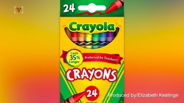 Crayola is ditching one crayon color. Elizabeth Keatinge (@elizkeatinge) has more.