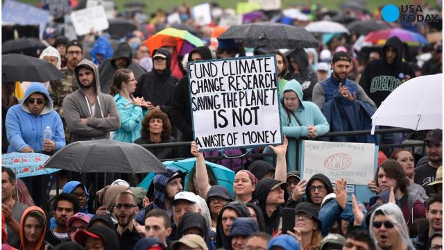 Thousands of people worldwide are using Earth Day to openly criticize and protest alleged 'anti-science' trends in government.