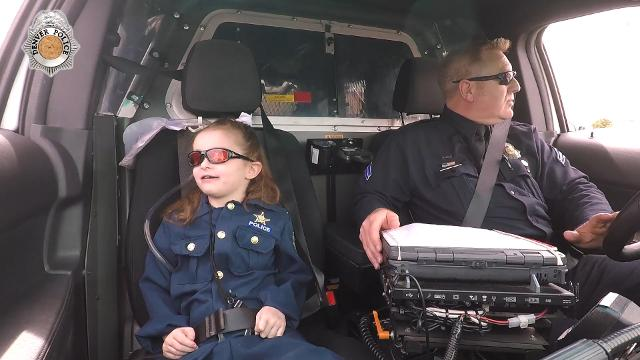 Police grant little girl's dying wish