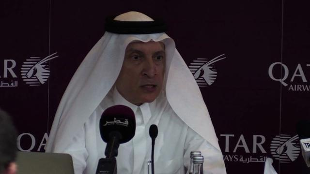 The chief of Qatar Airways accuses American carriers complaining over alleged subsidies to Gulf airlines of 'bullying,' as he announces new US routes in defiance of mounting airport restrictions.