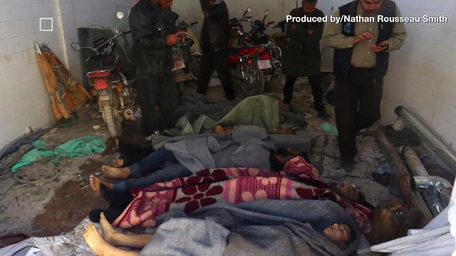 Children reportedly killed along with dozens in Syrian gas attack