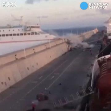 Spanish authorities say the boat lost electrical power, and 13 passengers were hurt.