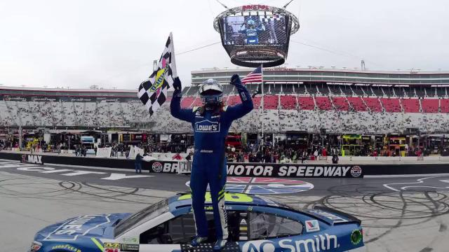 Johnson won his second consecutive Monster Energy NASCAR Cup Series race on Monday at Bristol Motor Speedway.