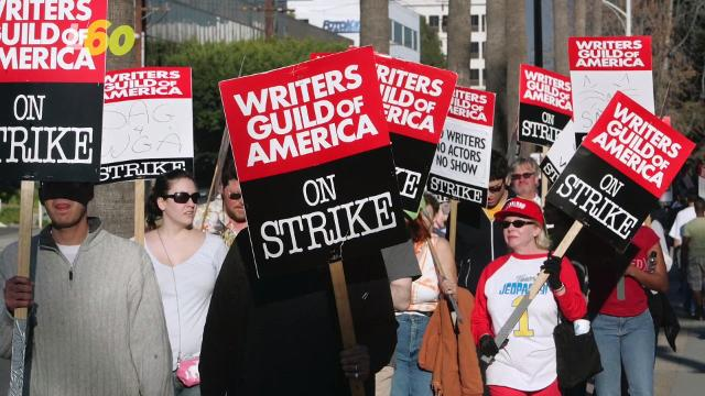 Hollywood writers may go on strike this May and some of our favorite TV shows may be in jeopardy! Buzz60's Djenane Beaulieu (@djenanebeaulieu) reports.