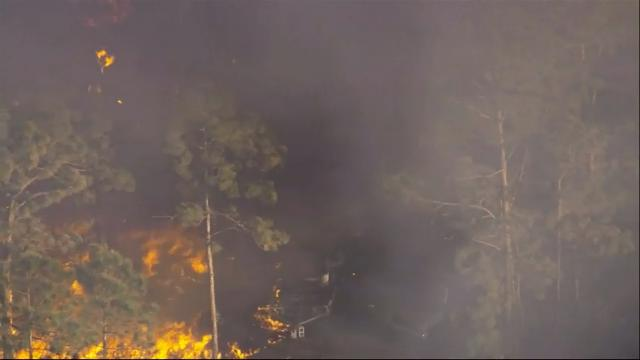 A central Florida subdivision has been evacuated due to a brush fire that has, so far, claimed at least five thousand acres. (April 21)