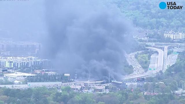 3 arrested in connection to Atlanta interstate fire