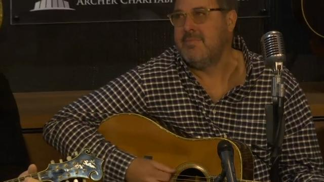 A new museum of rare instruments, including pre-war guitars and iconic mandolins, has opened at Belmont University in Nashville, Tennessee. Musicians Ricky Skaggs and Vince Gill helped to open the Gallery of Iconic Guitars, where students can get hands on experience with the priceless instruments. (April 27)