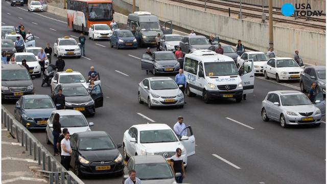Israelis marked Holocaust Remembrance Day with a moment of reflection as sirens wailed across the country.