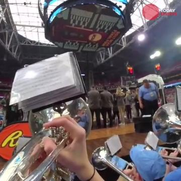 Members of the Final Four teams' spirit squads and bands wear USA TODAY Sports' Snapchat Spectacles to give you an insider experience.