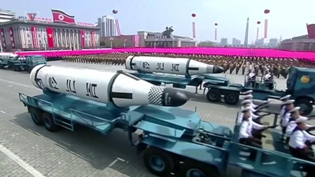 North Korea launches missile, but it blows up almost immediately