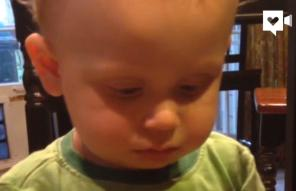 This toddler can't figure out why Peeps are so popular