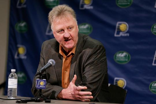 Bird was named NBA executive of the year in 2011-12.