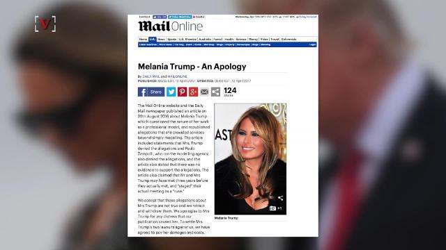 First Lady Melania Trump has settled her lawsuit with the Daily Mail. Susana Victoria Perez (@susana_vp) has more.