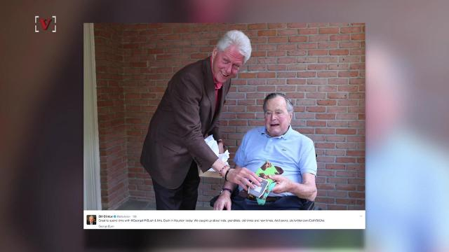 "The two former presidents caught up on ""kids, grandkids, old times and new times. And socks."" Angeli Kakade (@angelikakade) has the story."