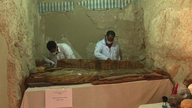 Egyptian archaeologists have unearthed several mummies, colourful wooden sarcophagi and more than 1,000 funerary statues in a 3,500-year-old tomb near the city of Luxor, hailing an 'important discovery.'