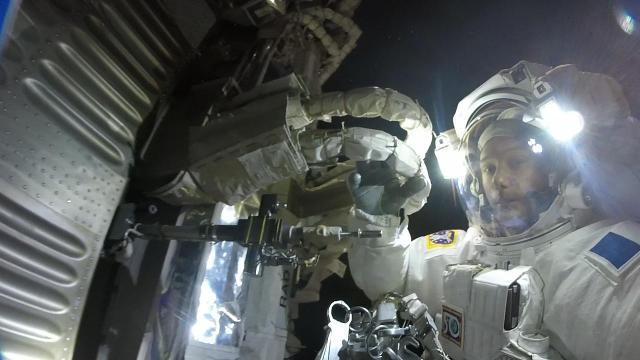 Astronaut captures stunning GoPro footage during spacewalk