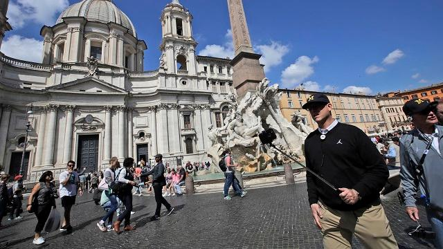 The team will get a few practices in and meet the pope.
