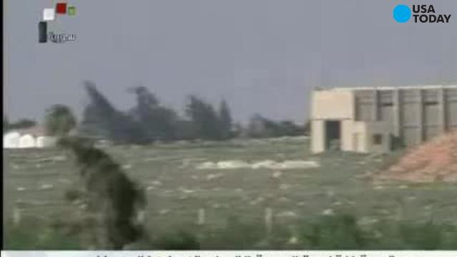 Smoke rises after U.S. missile strike in Syria