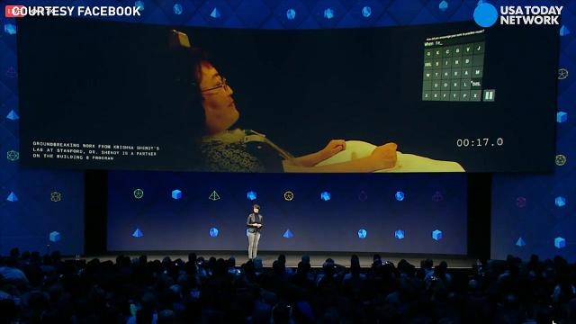 Facebook describes their concept of a system that allows users to merely think to type on a phone or computer.