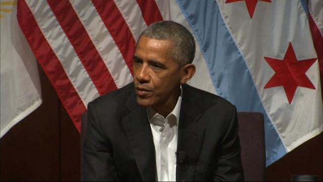 Fomer President Barack Obama held his first official event since leaving the White House in January. (April 24)