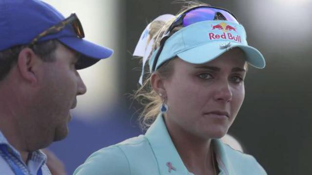 Collegues and fans came to Lexi Thompson's defense after a controversial penalty this past weekend.