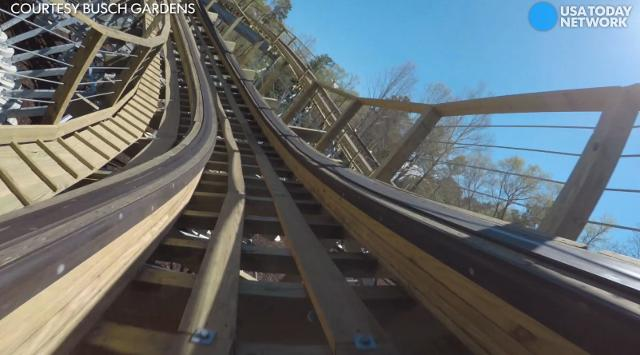 Hop in the front seat of Busch Gardens Williamsburg's first wooden roller coaster, InvadR.