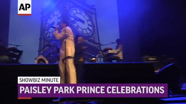 """Hillary Clinton makes surprise appearance at Tribeca Fest; Morris Day and The Time perform to mark anniversary of Prince's death; """"The Fate of the Furious"""" laps new films at U.S. box office. (April 24)"""
