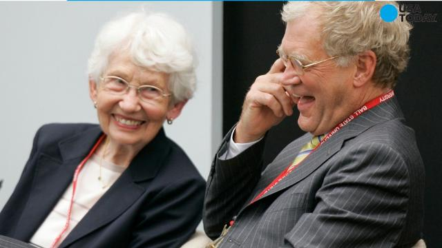 Dorothy Mengering, an Indianapolis church secretary who found unexpected fame as a correspondent on her son's late-night TV show, died Tuesday at age 95.