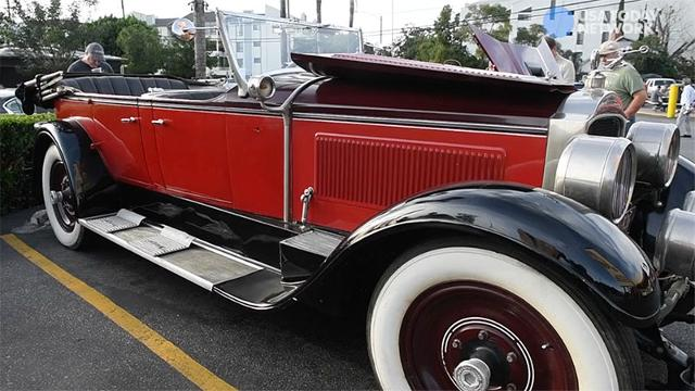 USA TODAY's Chris Woodyard takes a look collector Serob Seropian's 1927 Packard on display at the Bob's Big Boy classic car show.