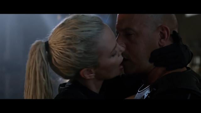 Vin Diesel dishes on his steamy kiss with his 'Fate of the Furious' co-star Charlize Theron.