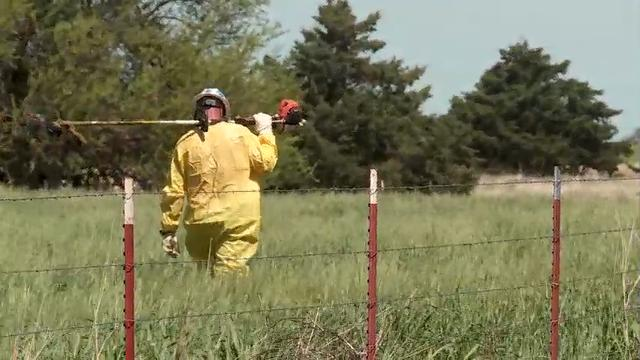 A Houston-based pipeline company is cleaning up an oil spill northwest of Oklahoma City. The 19,000 gallon spill affected about 70 acres of farmland and reached one small creek. (April 26)