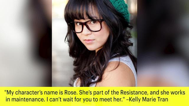 'Star Wars' fans are finally getting to know actress Kelly Marie Tran — or, as she's known in 'The Last Jedi', a Resistance mechanic named Rose.