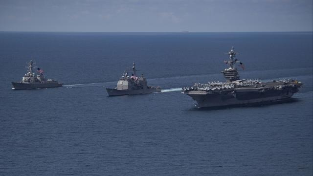 The U.S. Navy announced April 9 it was moving the USS Carl Vinson strike group north to position in the western Pacific. But it moved south.