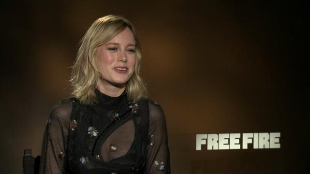 After working in relative isolation on 'Room,' Oscar winner Brie Larson says how nice it was to act opposite other people on new comedy thriller 'Free Fire.' She also reveals what it's like being the only woman on the set.