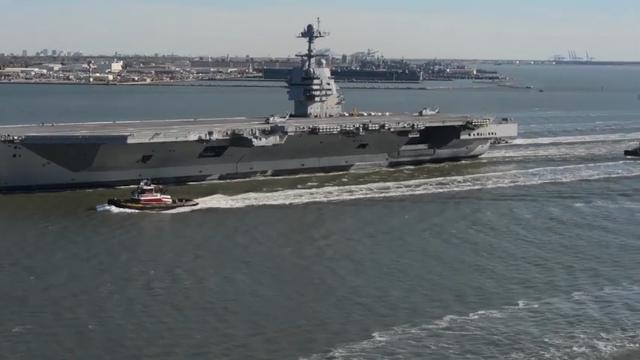 Sea trials for Navy's newest aircraft carrier